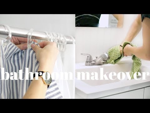 Bathroom Makeover & Deep Cleaning Routine | Affordable & Natural
