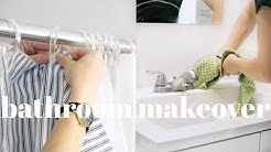 Bathroom Makeover & Deep Cleaning Routine   Affordable & Natural