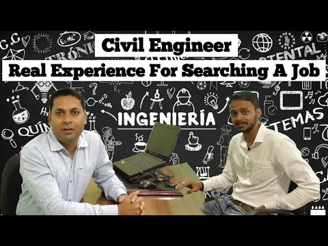 job opportunity in civil engineering: Real experience