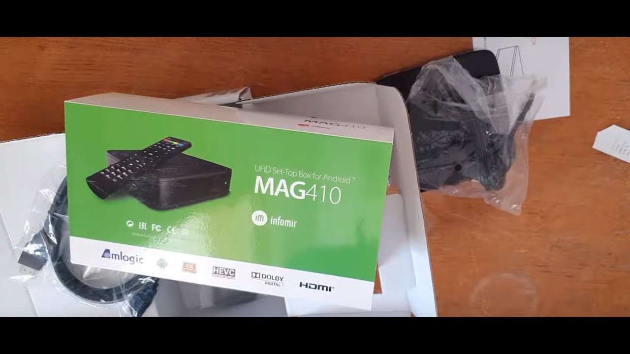MAG410 IPTV Android Box Setup and Review