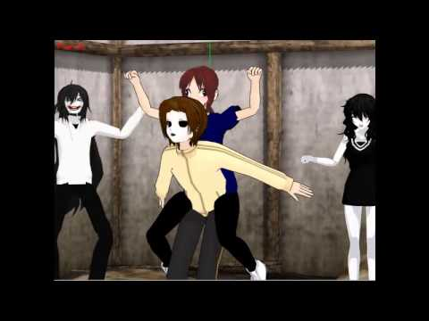 Mmd La Bomba Jeff The Killer Jane The Killer Masky Fernanda Youtube