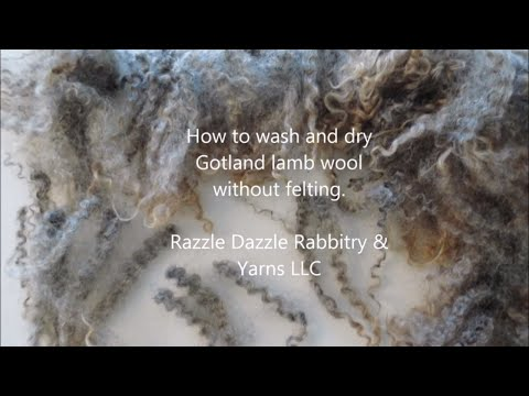 How to wash and dry Gotland without felting.