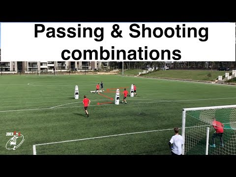 ⚽️Shooting drills⚽️  different combinations with Goal Keepers  Soccer  Football  Joner 1on1