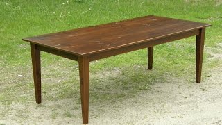 Reclaimed Wood Table (part 3/3 - Top And Finish)