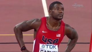 Justin Gatlin 200m heat at 2015 Champs - Universal Sports