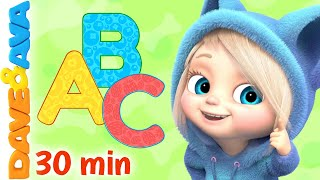 😻 Phonics Song Part 2 | ABC Song and More Nursery Rhymes by Dave and Ava 😻