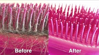 How to Clean a Hairbrush (Plastic Tangle Teezer style Brush)