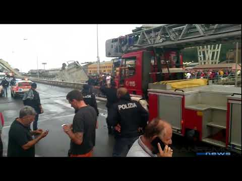 Crollo ponte Val Polcevera A10   Genova, 14 agosto 2018 b