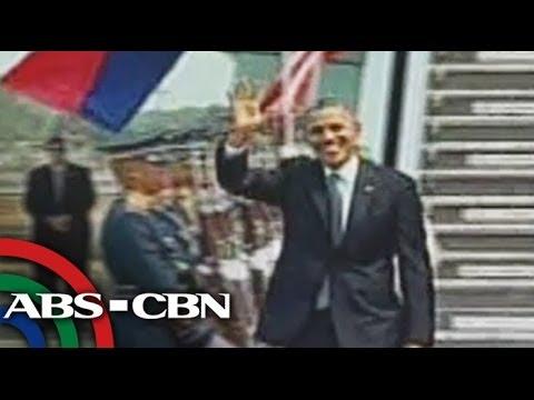 Obama arrives in Manila