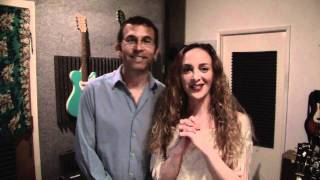 Leah West and Marty Rifkin In The Recording Studio