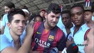 Celebran en La Habana primer encuentro de fútbol entre Cuba y EEUU