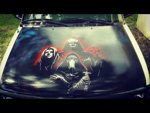 Spray Paint Car Hood Star Wars Truck