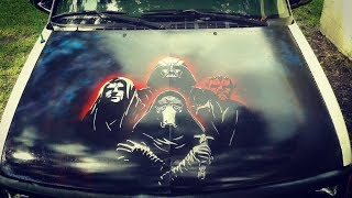 Spray Paint Car Hood Star Wars Truck