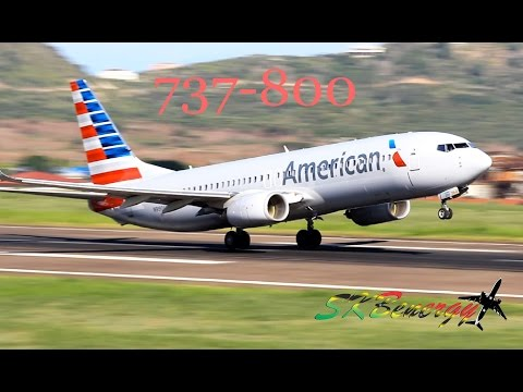 American Airlines 737-800 runway 25 departure @ the Robert L. Bradshaw Int'l Airport, St. Kitts