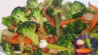 Stir fried Broccoli 🥦 Aspaŗagus & Carrot