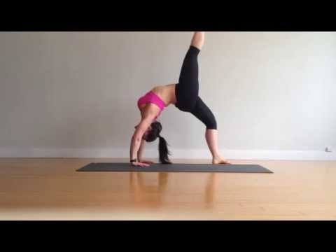 Yoga Backbend Flow Wild Thing Into Full Wheel Pose W Variation Youtube