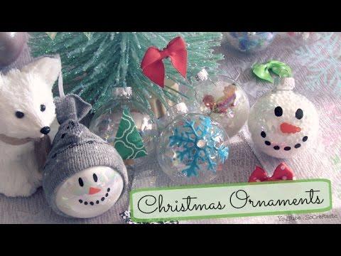 DIY Holiday Ornaments (8 Designs) | SoCraftastic
