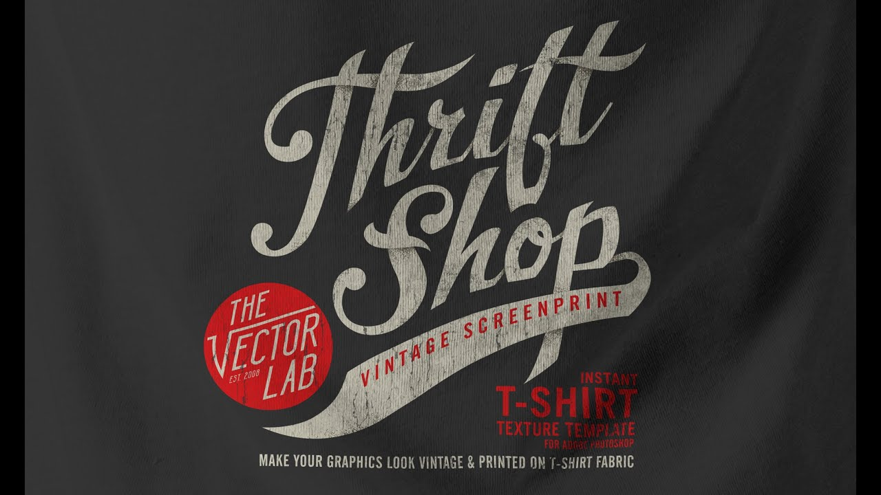 Make your graphics look vintage and screen printed like a for Vintage screen print t shirts