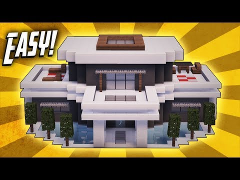 Minecraft How To Build Large Modern House Tutorial