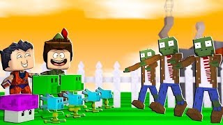 PLANTS VS ZOMBIES EM DUPLA NO MINI WORLD!! SOBREVIVEMOS OU VIRAMOS ZUMBIS ?