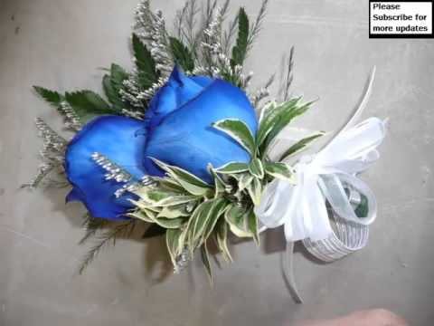 Decorative Pic Ideas Of Corsage Blue Roses Romance