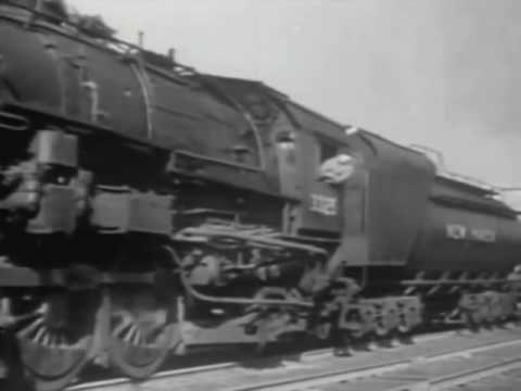 """A Great Railroad at Work"" -  1942 American Railroads Documentary"