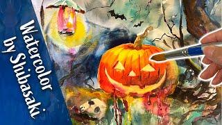 【柴崎春通の水彩画】ハロウィンの楽しいお絵描き / イラスト / 手書き / 可愛い