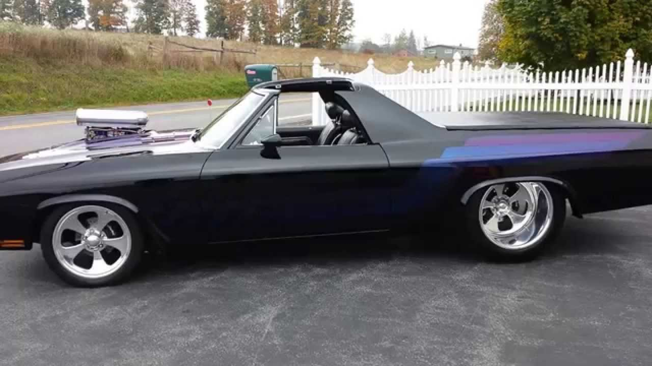 1970 Chevrolet Elcamino SS Prostreet Protouring  YouTube