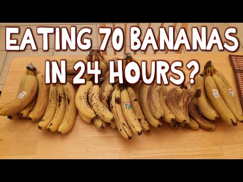 Dude Eats 70 Bananas in 24 Hours? *Challenge* | FreakEating