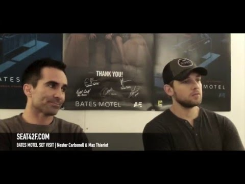 Bates Motel Set Visit Interview Nestor Carbonell and Max Thieriot