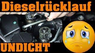Dieselrücklaufleitung UNDICHT - was nun? 🔧😲🔧