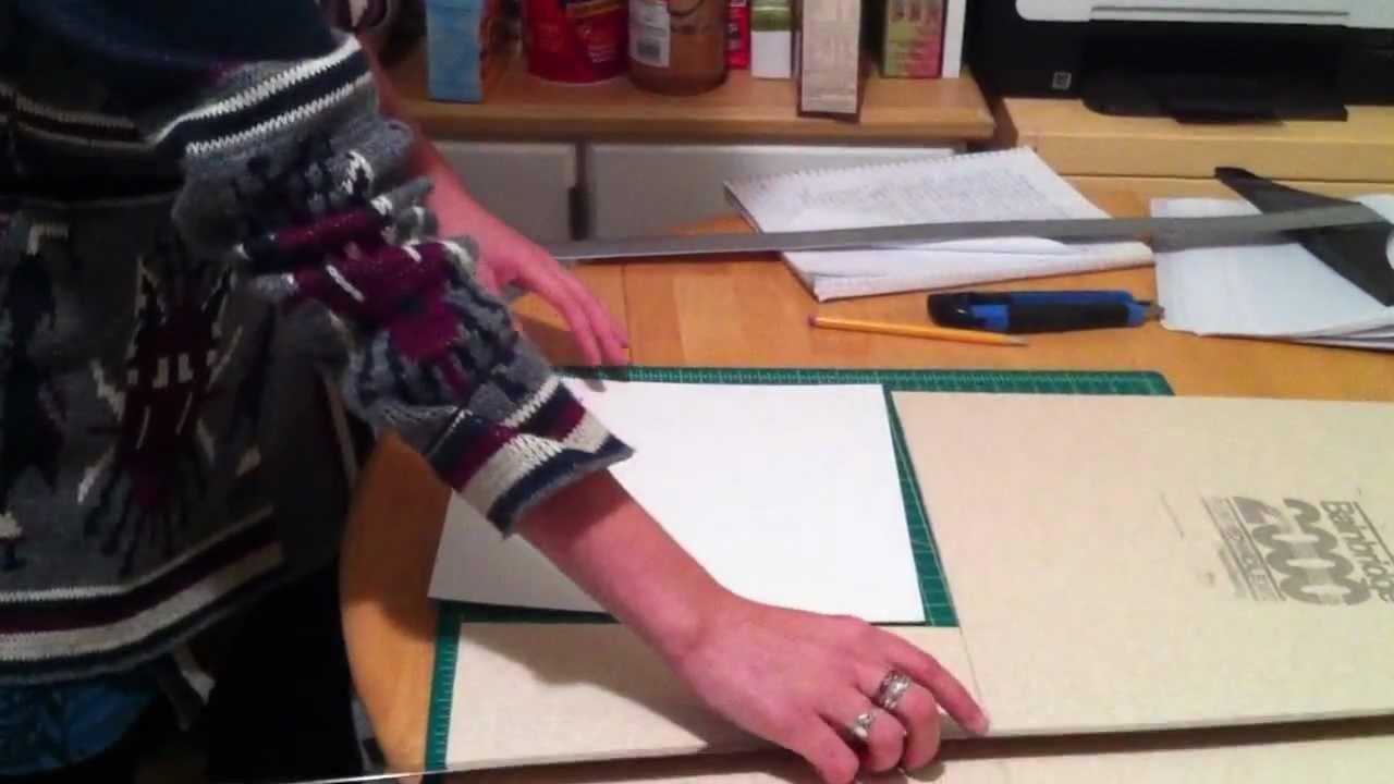 How to make scrapbook using illustration board - How To Prep Illustration Board