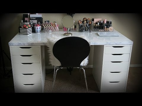 My Makeup Collection + New Marble Vanity!