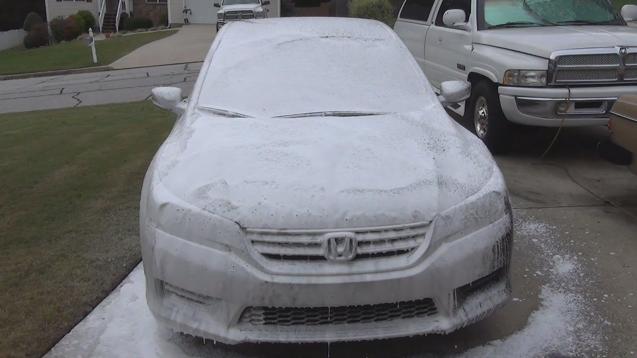 wash foam honda accord foaming adams cannon snow
