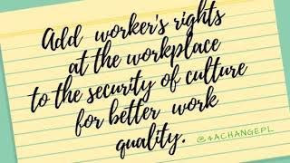 Quality of work, employees, risk assessment & business security. Part 1