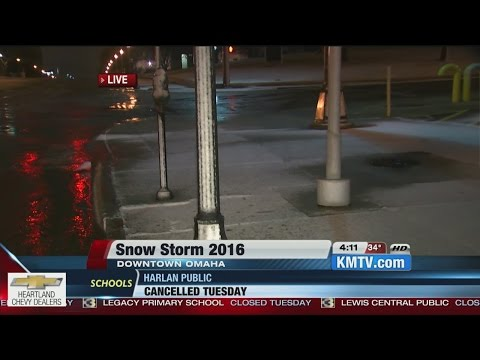 First check of roads in downtown Omaha - KMTV Action 3 News