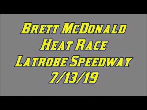 Brett McDonald Heat Race Latrobe Speedway 7/13/19