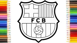 How to draw fc barcelona badge, drawing the barca logo. we will see in this video easy way of badge. is most popular club ...