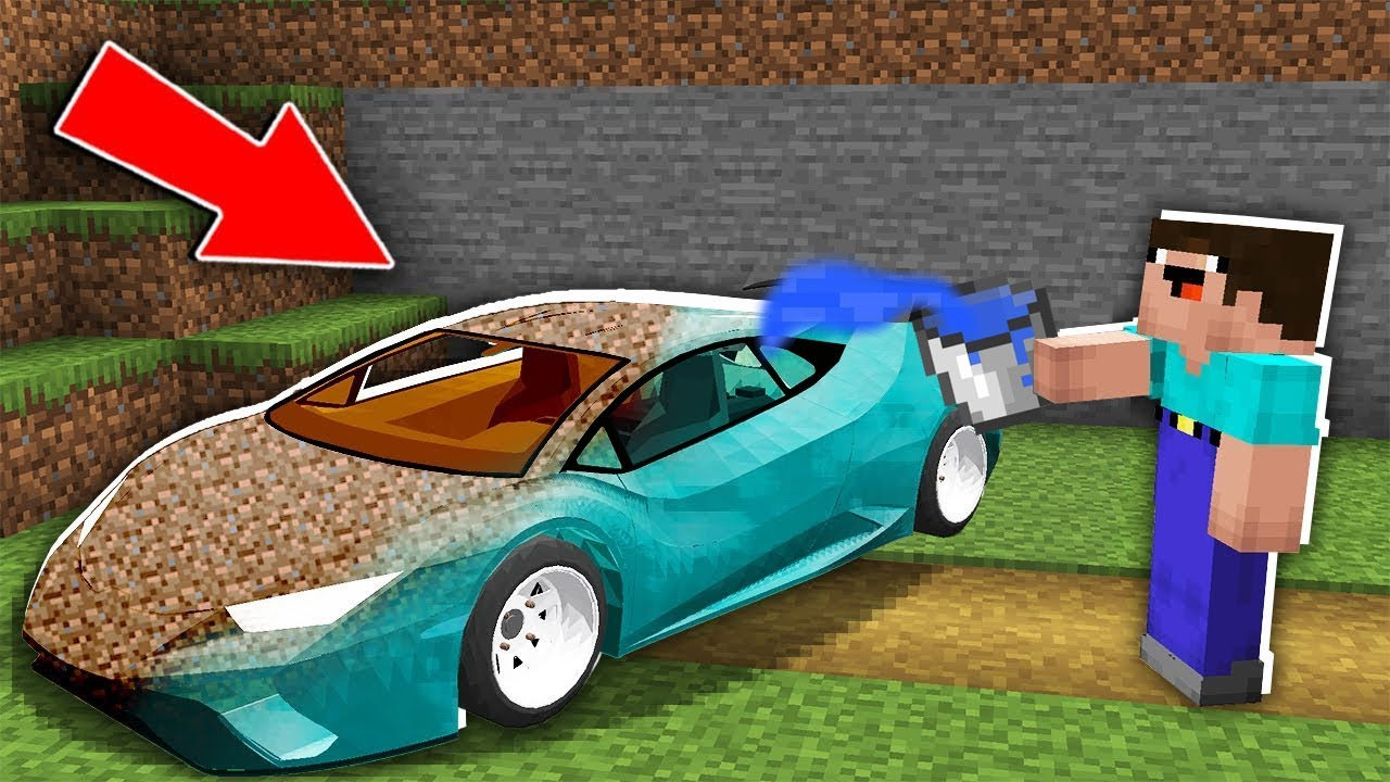 Minecraft NOOB vs PRO: NOOB WASH THE DIRT CAR WITH WATER AND FOUND DIAMOND CAR! Challenge 100%