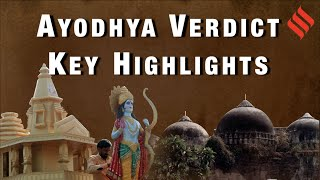 Ayodhya judgment highlights: 'Temple at disputed site, alternative land for mosque'
