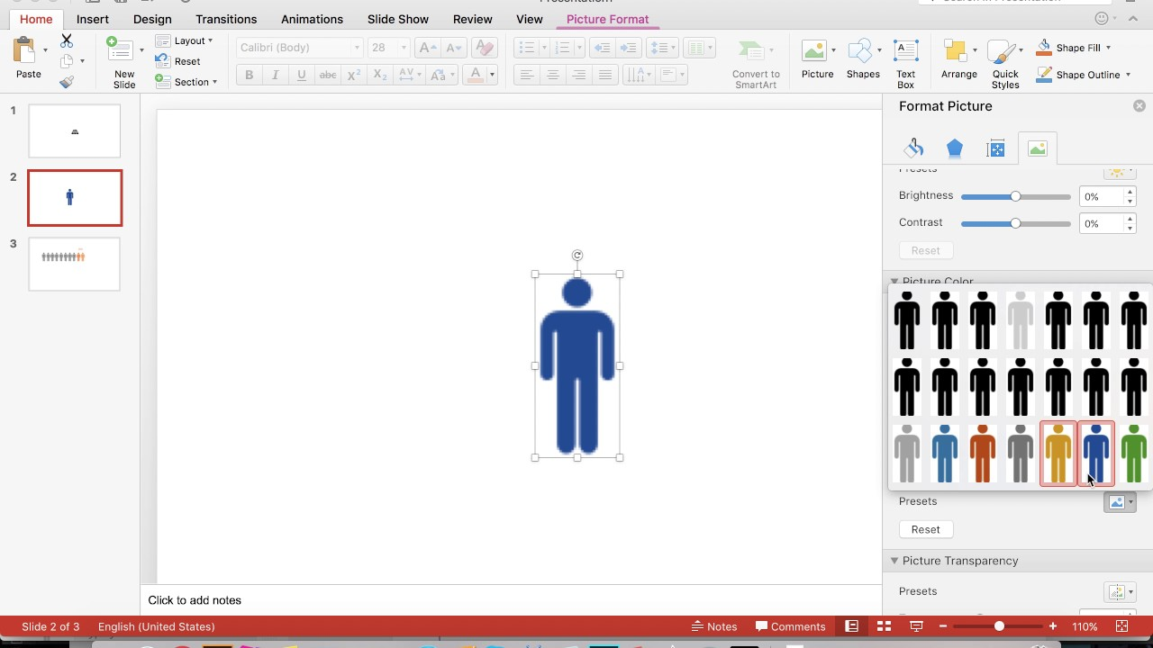 How to Change Color of Picture in PowerPoint - YouTube