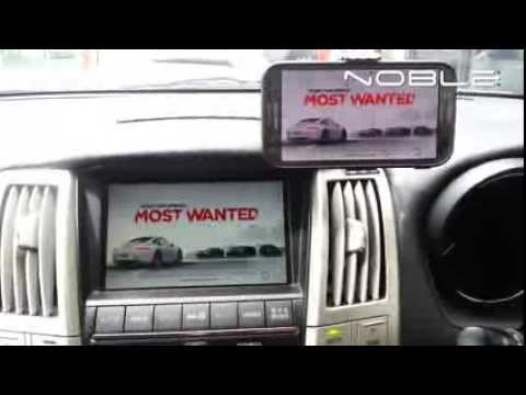 Noblecast Wireless Mirroring Demo - Toyota Harrier Japanese Spec