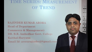 Time Series: Measurement of Trend in Hindi under E-Learning Program
