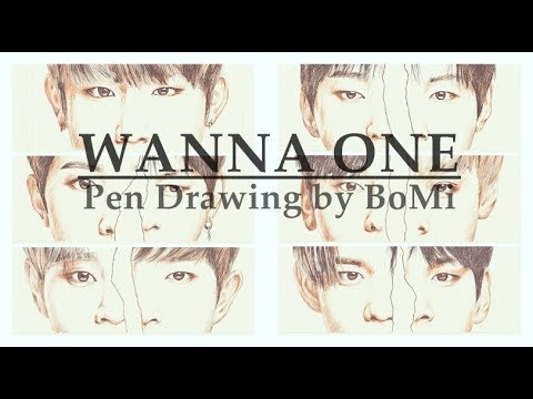 Wanna One (워너원) Pen Drawing By BoMi [ALL Members]