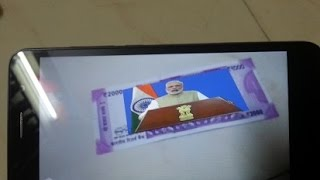 Modi Keynote Scan The 500 Or 2000 Rs Notes To View Modi Message On Black Money