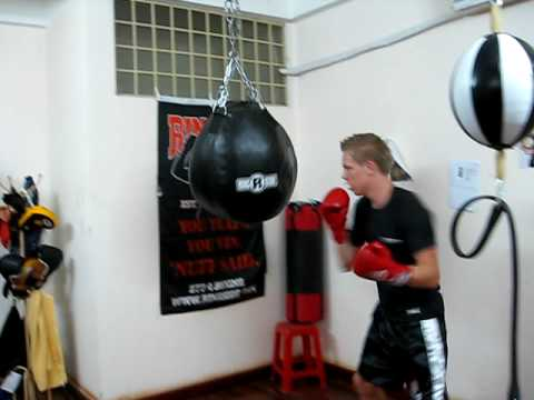 Sasha On The Uppercut Heavy Bag Here In Boxing At Ringside Gym