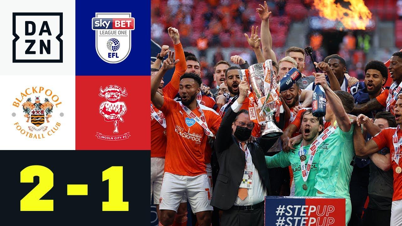 Doppelter Dougall! Blackpool geht hoch: Blackpool - Lincoln City 2:1 | League One | DAZN Highlights