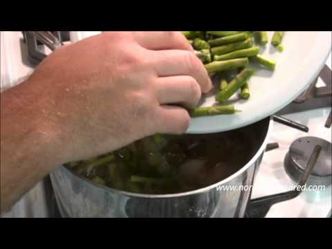 asparagus and yukon gold potato soup with roasted tomatoes  spar