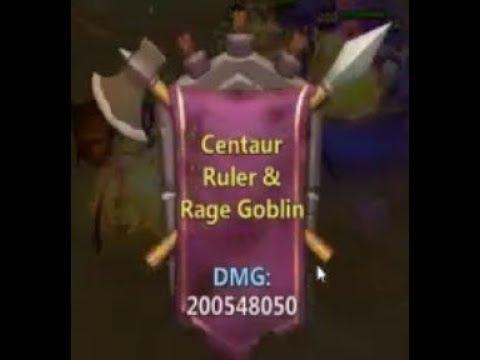 Castle Clash - Guild Boss - 200 Million Damage Centaur Ruler & Rage Goblin CHECK OUT HERO LINEUP