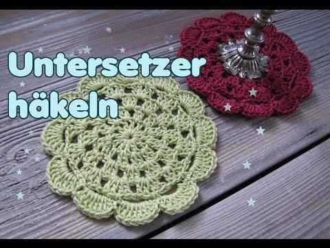 Untersetzer / Doily häkeln , Anleitung für Anfänger